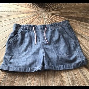 OLD NAVY GIRLS CHAMBRAY SHORTS SIZE 14